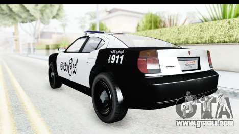 Sri Lanka Police Car v2 for GTA San Andreas right view