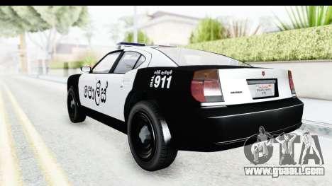 Sri Lanka Police Car v2 for GTA San Andreas right view