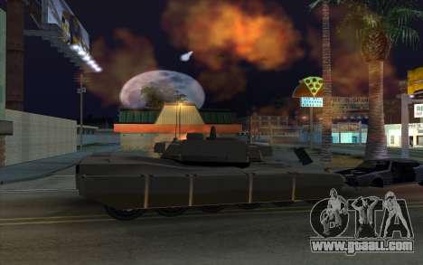 The effect of firing tank for GTA San Andreas forth screenshot