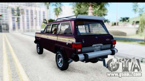 Jeep Grand Wagoneer for GTA San Andreas back left view