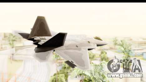 Lockheed Martin F-22 Raptor for GTA San Andreas right view