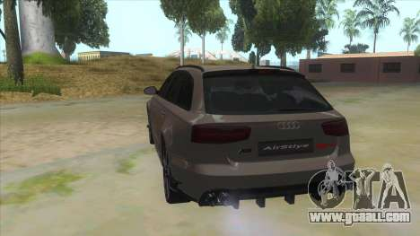 Audi RS6-R for GTA San Andreas back left view