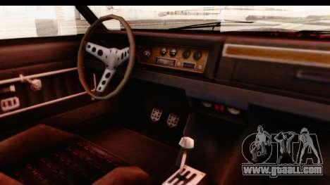 GTA 5 Albany Emperor IVF for GTA San Andreas inner view