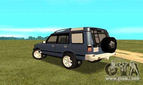 Land Rover Discovery 2B for GTA San Andreas back left view