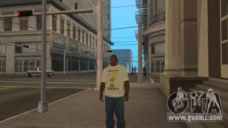 Bart Simpson T-Shirt for GTA San Andreas third screenshot
