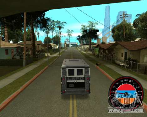 The speedometer in the style of the Armenian fla for GTA San Andreas third screenshot