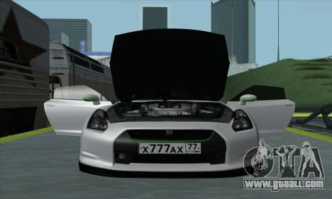 Nissan GT-R R35 Green Screen for GTA San Andreas back left view
