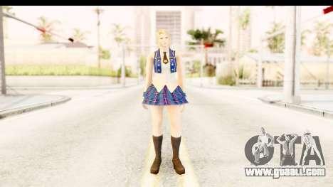 DoA 5 - Sarah Pop Idol for GTA San Andreas second screenshot