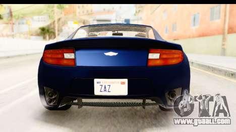 GTA 5 Dewbauchee Rapid GT for GTA San Andreas upper view