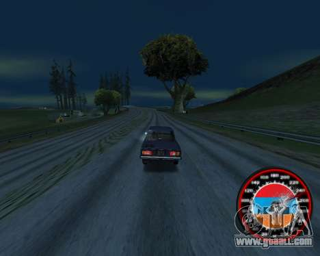 The speedometer in the style of the Armenian fla for GTA San Andreas second screenshot