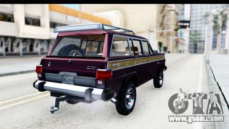 Jeep Grand Wagoneer for GTA San Andreas left view