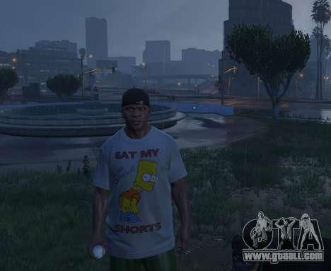 Bart Simpson T-Shirt for GTA V for GTA 5