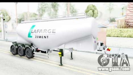 Trailer Zement for GTA San Andreas right view