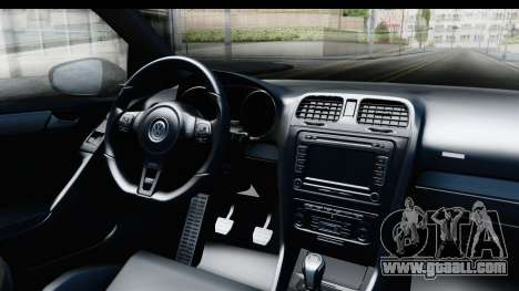 Volkswagen Golf R for GTA San Andreas inner view