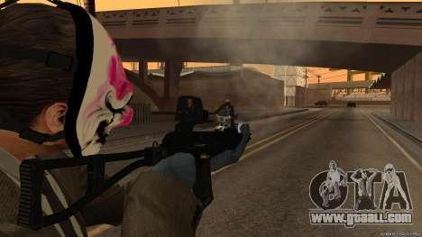 As-VAL Payday 2 for GTA San Andreas third screenshot