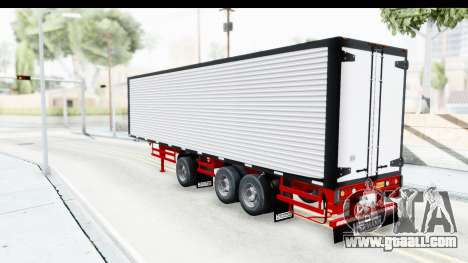 Trailer with Axle for GTA San Andreas back left view