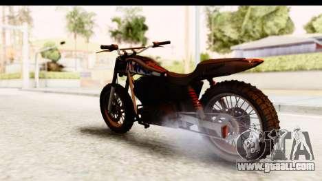 GTA 5 Western Cliffhanger Custom v2 for GTA San Andreas back left view