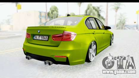 BMW M3 F30 Hulk for GTA San Andreas left view