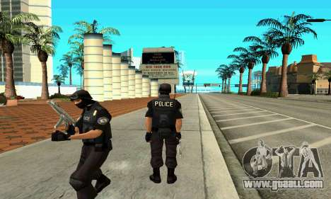 NextGen changed the original skin SWAT for GTA San Andreas second screenshot