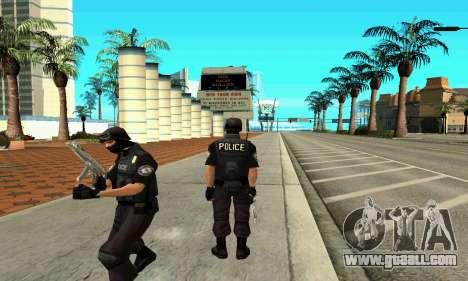 NextGen changed the original skin SWAT for GTA San Andreas second screenshot
