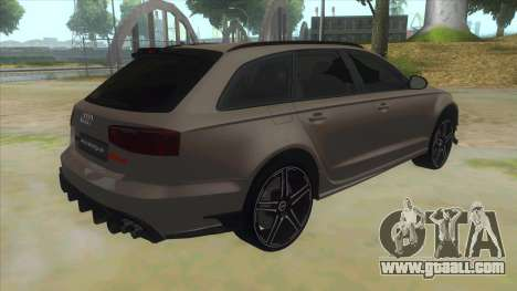 Audi RS6-R for GTA San Andreas right view