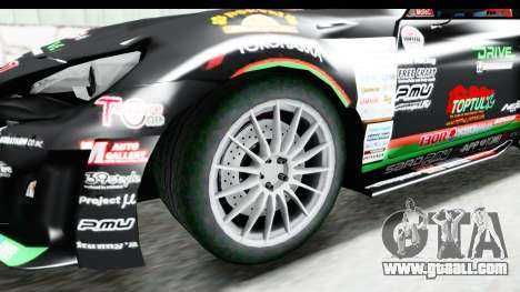 D1GP Toyota 86 2015 DRIVE for GTA San Andreas back view