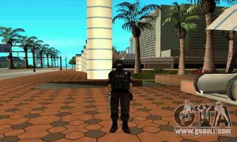 NextGen changed the original skin SWAT for GTA San Andreas fifth screenshot
