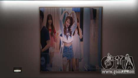 Photo GFRIEND in the house of Franklin for GTA 5