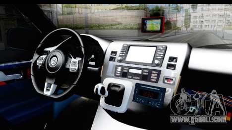 Volkswagen Caravelle for GTA San Andreas inner view