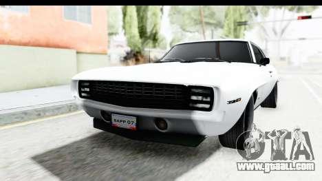 Chevrolet Camaro SS 1968 White Edition for GTA San Andreas