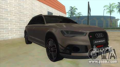 Audi RS6-R for GTA San Andreas back view