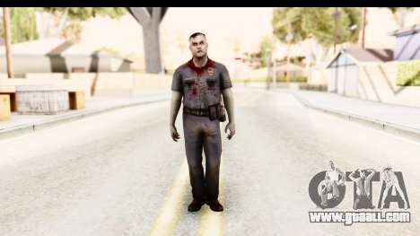 Left 4 Dead 2 - Zombie Policeman for GTA San Andreas second screenshot