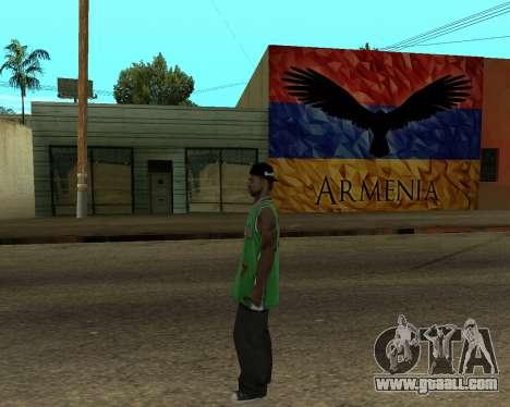 Grove Street Armenian Flag for GTA San Andreas