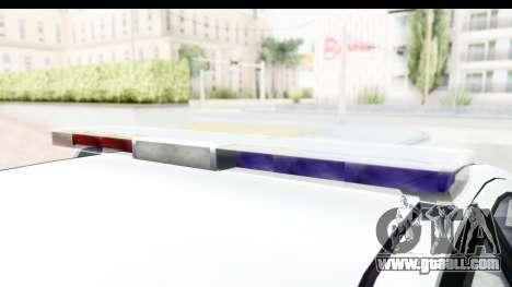 Sri Lanka Police Car v2 for GTA San Andreas inner view