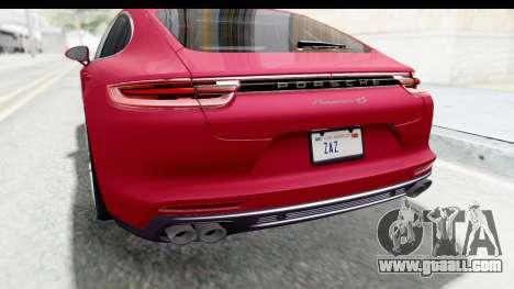 Porsche Panamera 4S 2017 v2 for GTA San Andreas bottom view