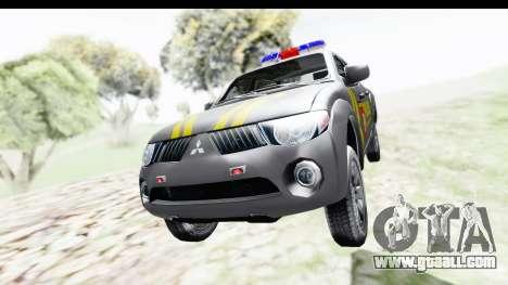 Mitsubishi L200 Indonesian Police for GTA San Andreas right view