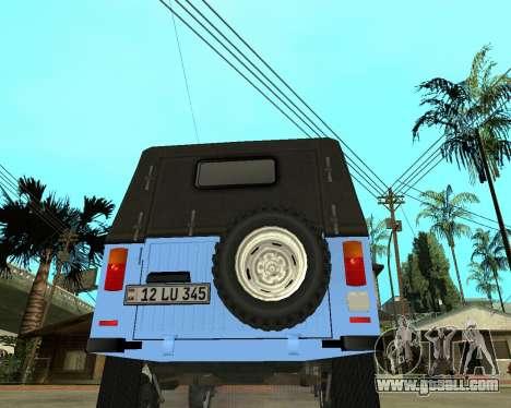 Luaz 969 Armenian for GTA San Andreas back left view