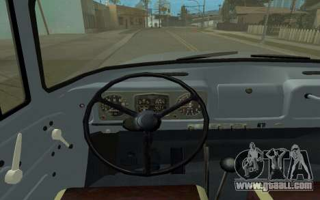 ZIL-130 Armenia for GTA San Andreas inner view