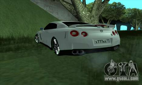 Nissan GT-R R35 Green Screen for GTA San Andreas left view