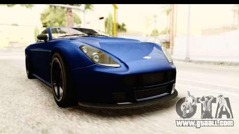 GTA 5 Dewbauchee Rapid GT for GTA San Andreas right view