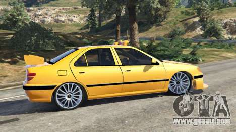 GTA 5 Taxi Peugeot 406 v1.0 rear left side view