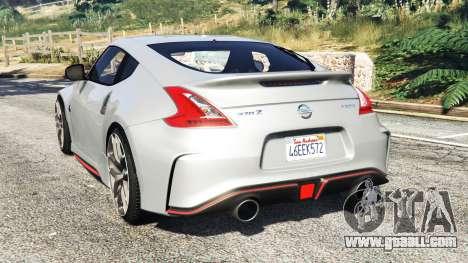 GTA 5 Nissan 370Z Nismo Z34 2016 [replace] rear left side view