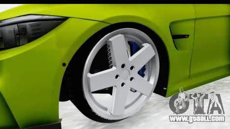 BMW M3 F30 Hulk for GTA San Andreas back view