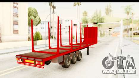 Trailer Fruehauf for GTA San Andreas left view