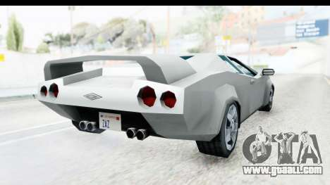 VCS Infernus for GTA San Andreas right view