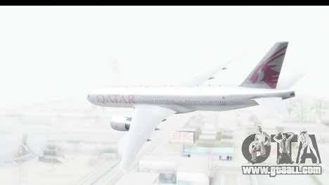 Boeing 777-200LR Qatar Airways for GTA San Andreas right view