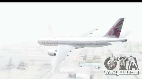 Boeing 777-200LR Qatar Airways for GTA San Andreas right view
