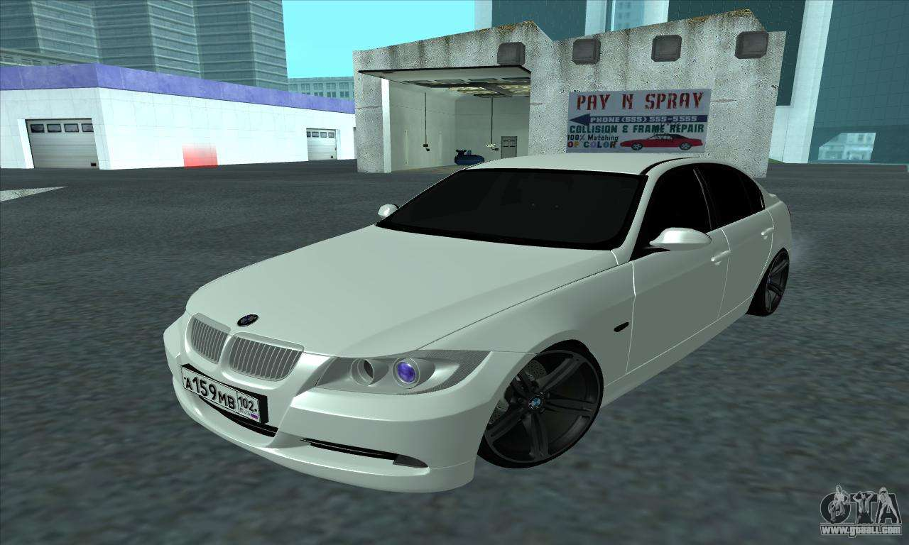 bmw 325i e90 for gta san andreas. Black Bedroom Furniture Sets. Home Design Ideas