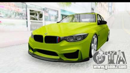 BMW M3 F30 Hulk for GTA San Andreas