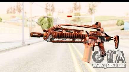 SCAR-LK Hex Camo Blue for GTA San Andreas